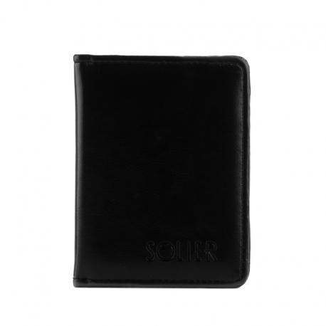 817f656be8c35 Czarny slim wallet skórzane etui na karty - Gentle Man