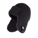 Zimowa ciepła czapka męska uszatka czarna