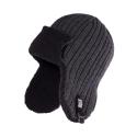 Zimowa ciepła czapka uszatka męska ciemnoszara