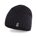 Ciemnoszara stylowa męska zimowa czapka