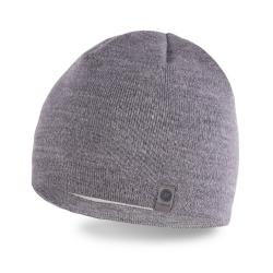 Zimowa czapka męska jasnoszara