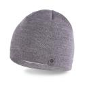 Modna jasnoszara męska zimowa czapka pamami