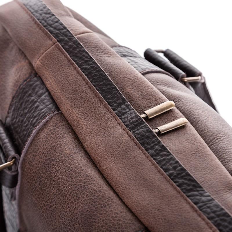 3f0e3c1c94206 Skórzana torba męska teczka paolo peruzzi na ramię - Gentle Man