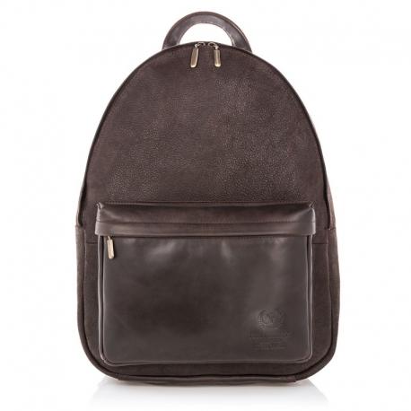 9a6034f41c7a9 Skórzany plecak vintage paolo peruzzi szkolny - Gentle Man