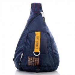 Granatowy modny plecak sportowy bag street military corp