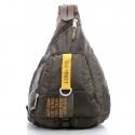 Khaki modny plecak sportowy bag street military corp