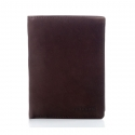 Brązowy elegancki skórzany portfel franko