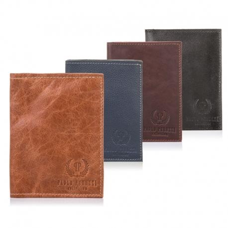 Cienki skórzany portfel męski slim paolo peruzzi czarny
