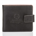 Slim adventure skórzany portfel męski paolo peruzzi czarno-brązowy