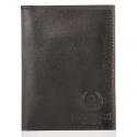 Czarny cienki skórzany portfel męski
