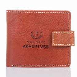 Slim adventure skórzany portfel męski paolo peruzzi czarny