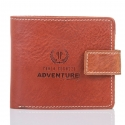 Slim adventure skórzany portfel męski paolo peruzzi brązowy