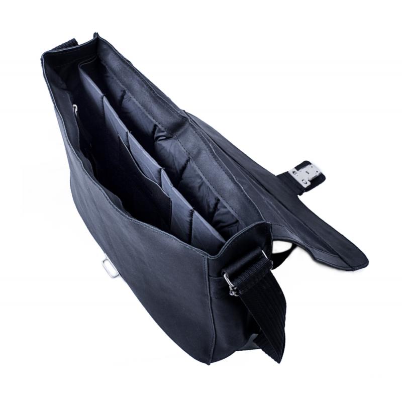 f0bed17662a845 Męska torba na ramię ze skóry naturalnej baleine s1 czarna - Gentle Man