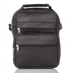 Skórzana torba męska Arbuzzo do pracy, czarna