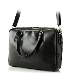 Klasyczna torba męska brødrene b13 teczka na ramię czarna