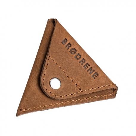 Jasno brązowa skórzana bilonówka coin wallet brodrene cw01