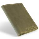 Skórzany portfel slim wallet brodrene sw01 zielony