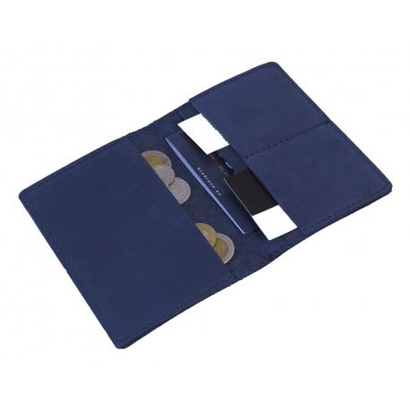 Granatowy skórzany portfel slim wallet brodrene sw01