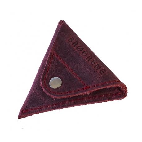 Czerwona skórzana bilonówka coin wallet brodrene cw01