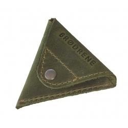 Oliwkowa skórzana bilonówka coin wallet brodrene cw01