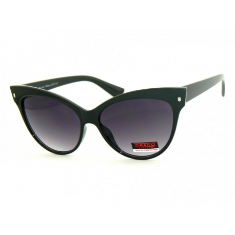 bfdc5ac82 Okulary przeciwsłoneczne czarne błyszczące damskie. - Gentle Man