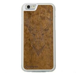 Drewniane etui iPhone 6/6S Jeleń Przezroczysty Geometric Animals