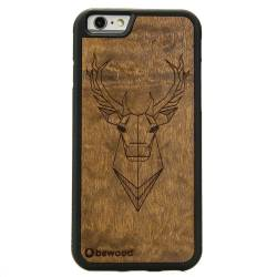 Drewniane etui iPhone 6/6S Jeleń Geometric Animals