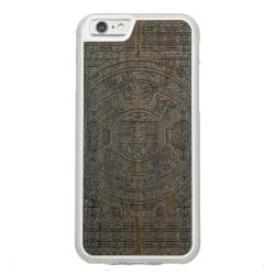 Drewniane etui iPhone 6/6S Kalendarz Aztecki Ziricote Przezroczysty