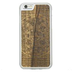 Drewniane etui iPhone 6/6S Kalendarz Aztecki Limba Przezroczysty
