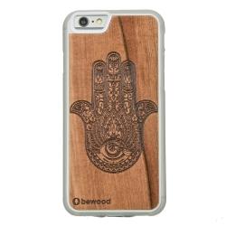 Drewniane etui iPhone 6/6S Hamsa Przezroczysty Vibe