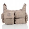 Beżowa damska torebka listonoszka na ramię