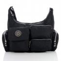 Czarna damska torebka listonoszka na ramię