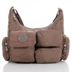 Brązowa damska torebka listonoszka na ramię