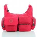 Czerwona damska torebka listonoszka na ramię