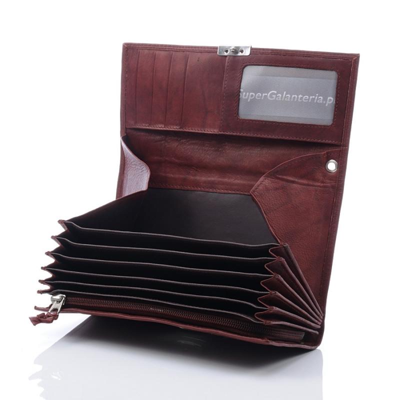 50e4cae44eb15 Brązowy portfel kelnerski ze skóry naturalnej - Gentle Man