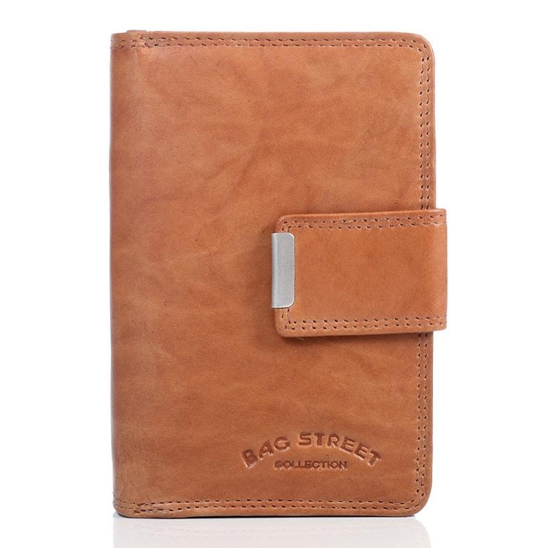 55a8caba25456 Brązowy portfel damski ze skóry naturalnej - Gentle Man