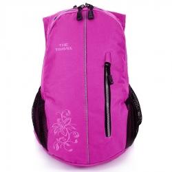 Różowy damski sportowy plecak travel