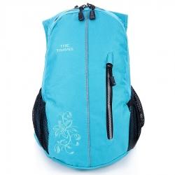 Niebieski damski plecak travel