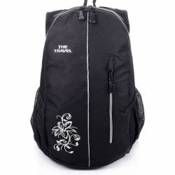 Czarny damski sportowy plecak travel