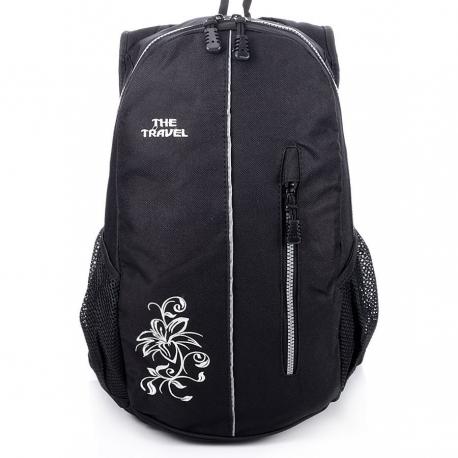 e0696a0f19a93 Czarny damski sportowy plecak travel - Gentle Man