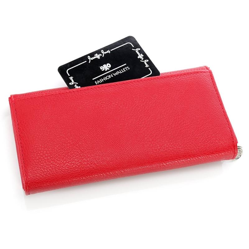 0e259fbfbb62e Czarny duży damski portfel ze skóry - Gentle Man
