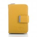 Żółty portfel damski z naturalnej skóry wysokogatunkowej
