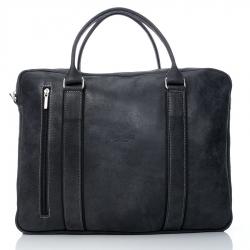 Czarna skórzana torba damska do ręki i na ramię