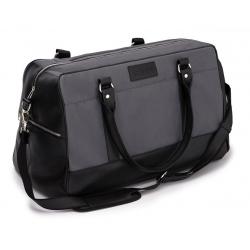 Sportowa czrno szara torba weekendowa solier S18 govan