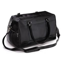 Sportowa czarna torba weekendowa solier S18 govan