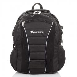 Czarny duży miejski plecak wielofunkcyjny
