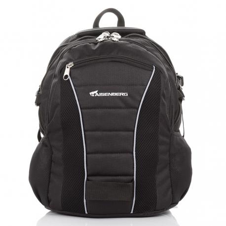 d84067b09ae6e Czarny duży miejski plecak wielofunkcyjny - Gentle Man
