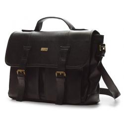 Miejska ciemno brązowa torba na ramię solier S14 lanark