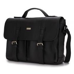 Miejska czarna torba na ramię solier S14 lanark