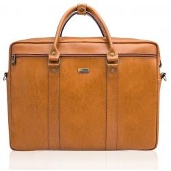 Skórzana torba na ramię laptopa solier SL03 kilbridge camel